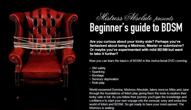 Beginners Guide to BDSM by Mistress Absolute now on-line