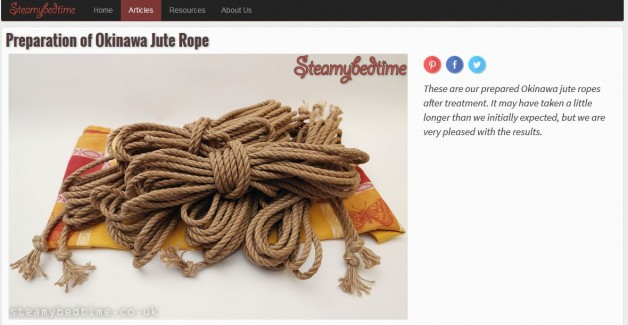 Preparation of Okinawa jute rope by Steamybedtime