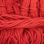 New red jute shibari rope
