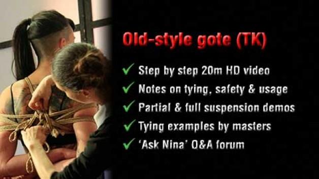 Old-style gote shibari (takate-kote) tutorial on ESINEM Shibari Classes