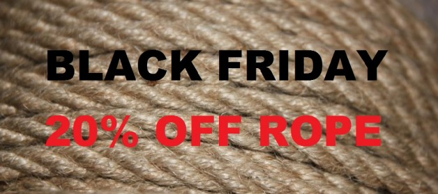 BLACK FRIDAY: 20% off all rope at ESINEM-Rope