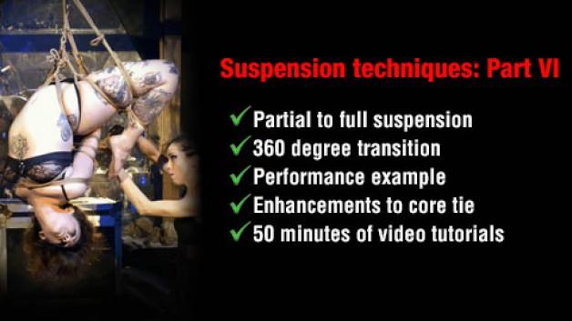 Part VI in shibari 'Suspension techniques': 360 degree suspension