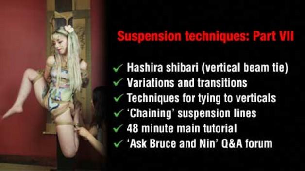 Hashira shibari, vertical beam suspension, tutorial