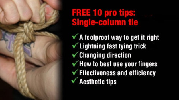 FREE! 10 Pro tips for the single column tie