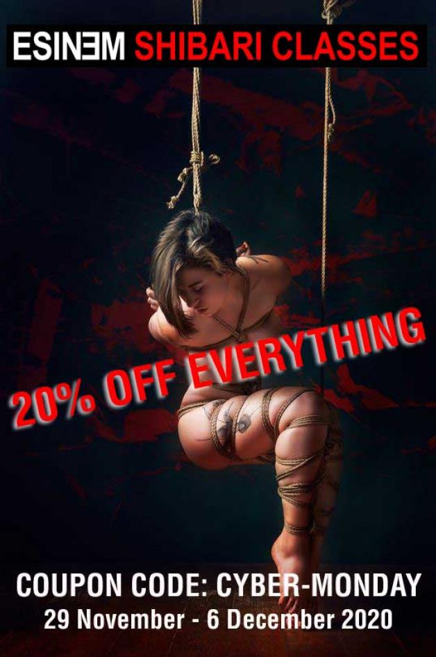 20% off all shibari tutorials