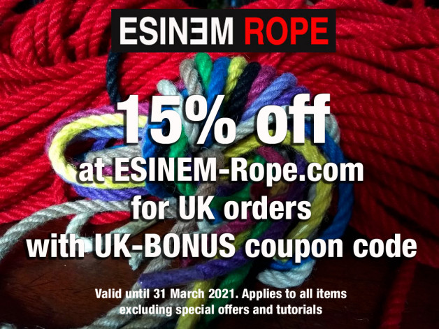 15% off shibari rope and accessories at ESINEM-Rope